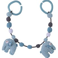 sebra Crochet Pram Toy Elefant Cloud blue cloud blue