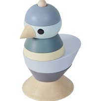 sebra Stacking Bird Wood Boy Blue