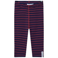 Geggamoja Wool Leggings Marine/Orange Marine/orange