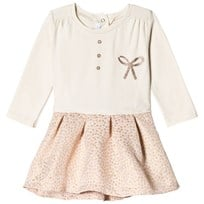 Absorba Cream Glitter Bow Jersey Dress 34