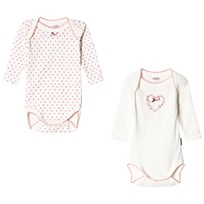 Absorba 2 Pack Cream Spot and Floral Heart Baby Body 13