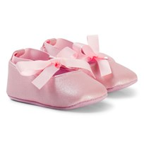 Absorba Pink Metallic Crib Shoes 30