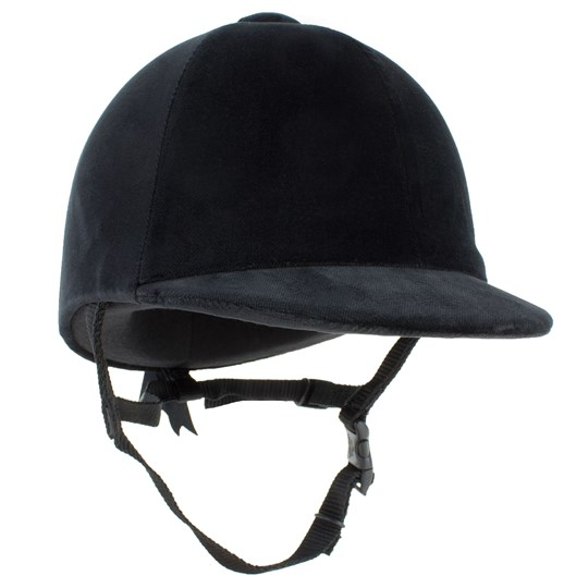 Champion Equestrian Junior CPX-3000 Velvet Riding Hat Black