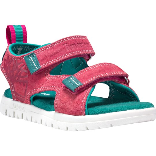 Timberland Pink and Green Piedmont Toddler Sandals Pink