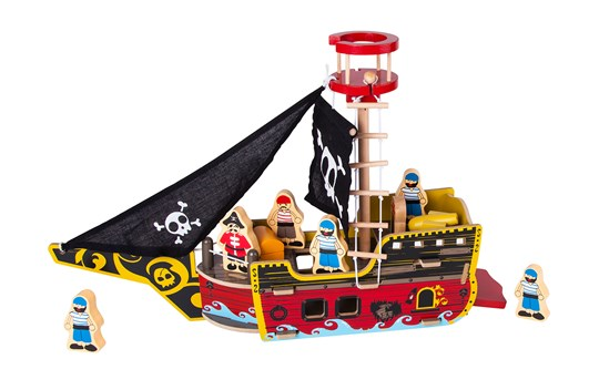 STOY Wood Pirate ship Multi