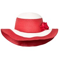 Monnalisa Red and White Wide Brim Sun Hat 0144