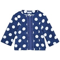 Monnalisa Navy and White Spot Woven Jacket 5699