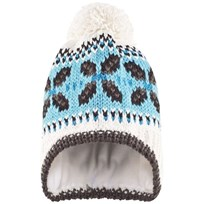 Eisbar Arvin White and Blue Bobble Hat Blue