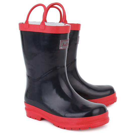 Hatley Classic Wellies Navy and red