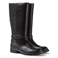 Geox Sofia Tall Black Leather Boots Black