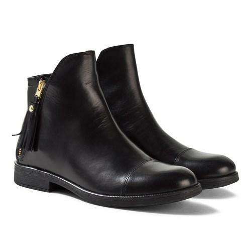 geox black ankle boots