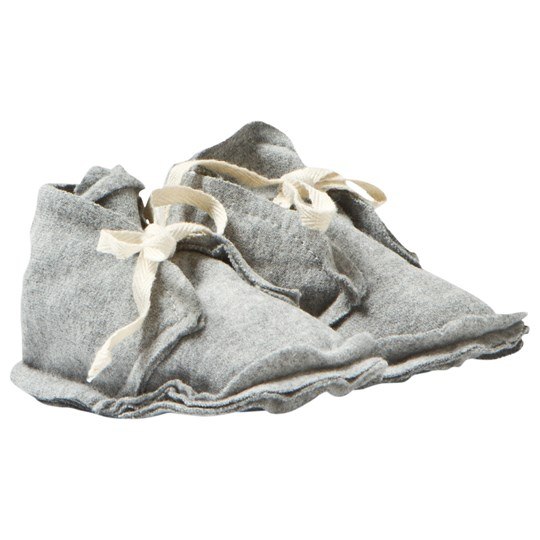 Gray Label Baby Raw Edged Booties Grey Melange Grey Melange