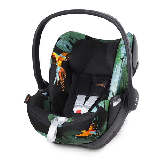 Cybex Cloud Q Babyskydd Birds of Paradise Black