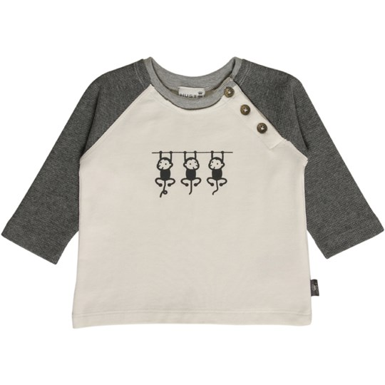 Hust&Claire Grey Monkey Tee Black