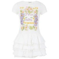 I Pinco Pallino White Floral Waffle Dress White