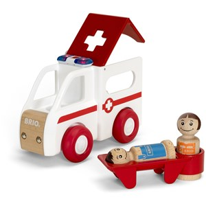 Image of BRIO BRIO® My Home Town – 30381 Light and Sound Ambulance 12 months - 8 years (2839676271)