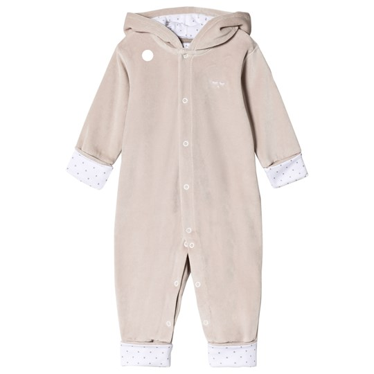 Livly Bunny Plush Onesie Grey/Silver Dots