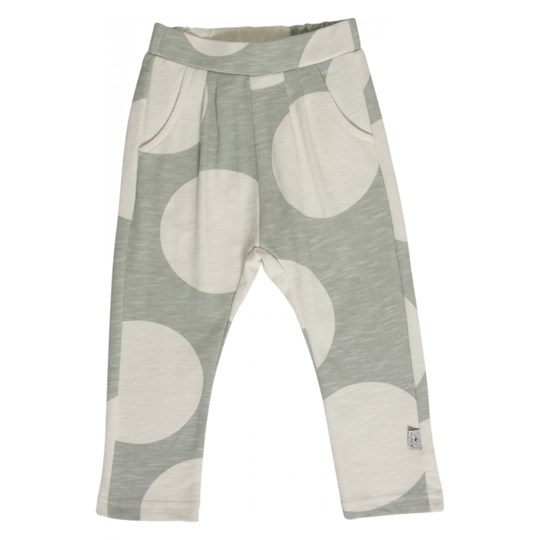 Hust&Claire Grey and White Spot Pants Green