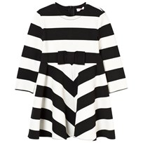 Il Gufo Black and White Stripe Milano Long Sleeve Dress 1009