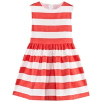 Il Gufo Coral and White Stripe Bow Dress 264