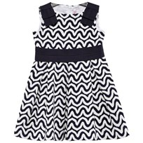 Il Gufo Navy and White Swirl Print Dress 495