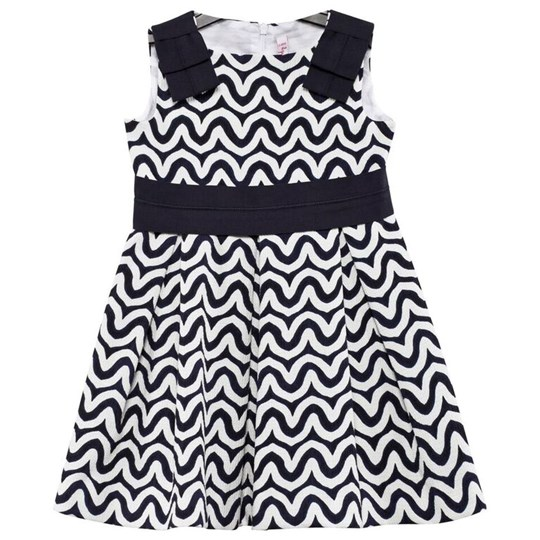 2bb91a31e28 Il Gufo - Navy and White Swirl Print Dress - Babyshop.com