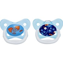 DrBrown's Napp, PreVent Butterfly, 6-12 mån, 2-pack, Blå Blue