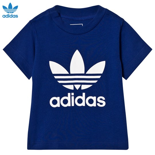 adidas Originals Navy Infants Logo Tee MYSTERY INK F17/WHITE
