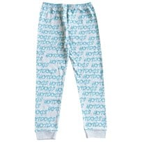 Gardner and the gang Leggings, Hotdogs repeat turquoise, grey Grey
