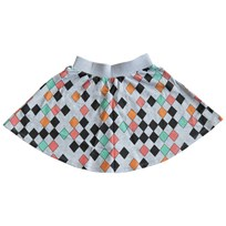 Gardner and the gang Kjol, The skirt Harlequin, grey Black