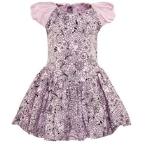 Jessie & James Pink And Navy Lurex Polkadot Birthday Dress Pink and Navy