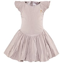 Jessie & James Beige Lurex Polkadot Birthday Dress Beige