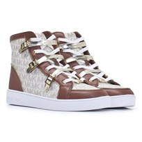 Michael Kors Cream Hi Top Trainers
