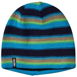 Isbjörn Of Sweden Stripes Knitted Hat Seagrass