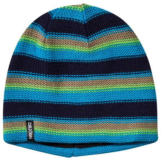 Isbjörn Of Sweden Stripes Knitted Hat Seagrass Seagrass