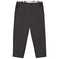 The Little Tailor Charcoal Fully Lined Cotton Canvas Trousers RAVEN
