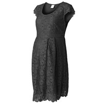 Mamalicious Cille Capsleeve Lace Dress Black