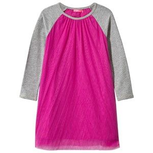 Image of Le Big Tulle Dress with Raglan Sleeves in Pink 86-92 (2 years) (2839683567)