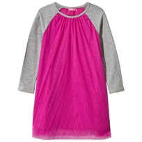 Le Big Pink Tulle Dress with Raglan Sleeves Multi