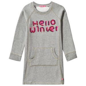Image of Le Big Hello Winter Sweater Dress in Grey 110-116 (6 years) (2839669423)