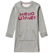 Le Big Grey Hello Winter Sweater Dress Mid Grey Melange