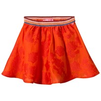 Le Big Orange Brandy Skirt with Glitter Waistband Bright Orange