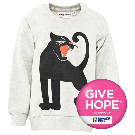 Mini Rodini Panther Sweatshirt Grey Melange Sort