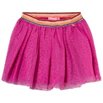 Le Big Pink Spot Tulle Skirt with Lurex Waistband Multi