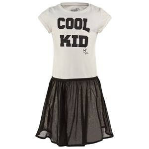Image of SuperTrash Off White Jersey Cool Kid Dress with Zip Net Removable Skirt 164 (14 years) (2995682461)