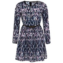 SuperTrash Navy Multi Print Dress IKAT
