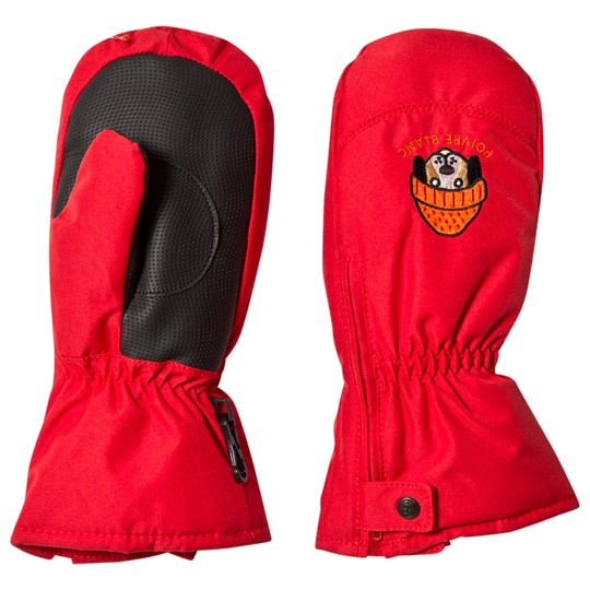 Poivre Blanc Red Ski Mittens with Embroidery 0038