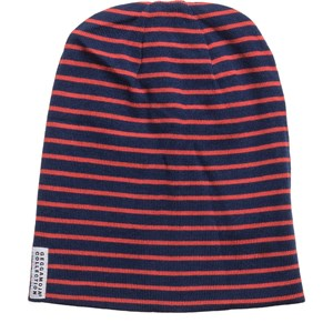 Geggamoja Topline Fleece Hat Orange/Marine XS (1-2 år)