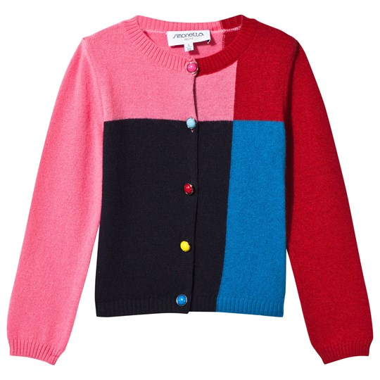 Simonetta Colorblock Knit Cardigan 621