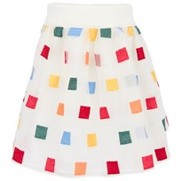 Simonetta Off White Skirt Cream,Multi